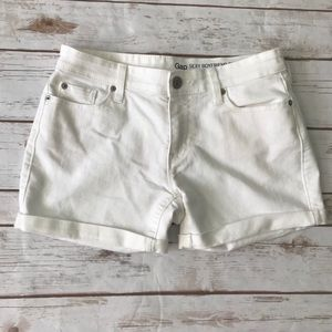 5/$25 GAP White Cuffed Jean Shorts